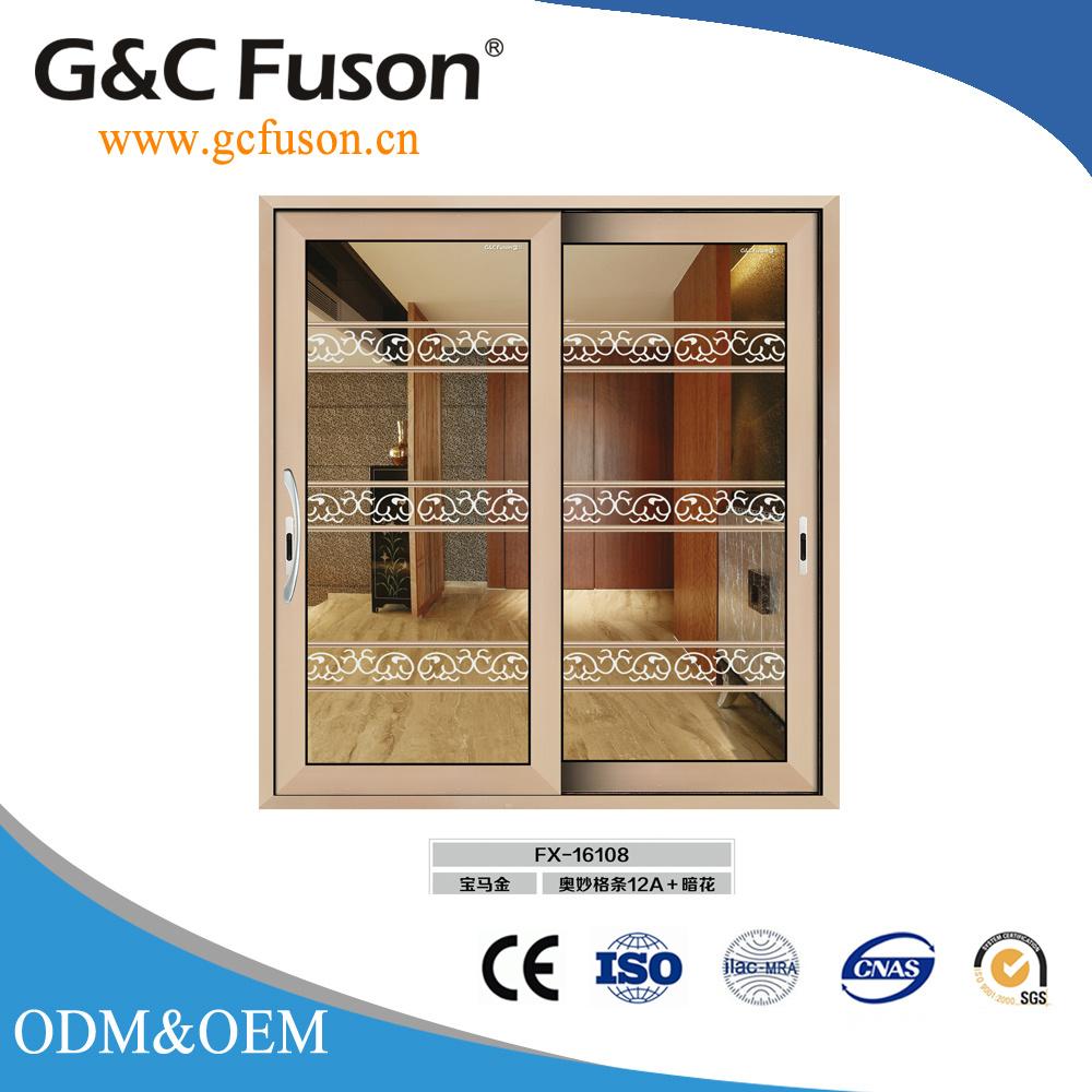 China Double Glazed Interior Sliding Glassaluminium Profile Door