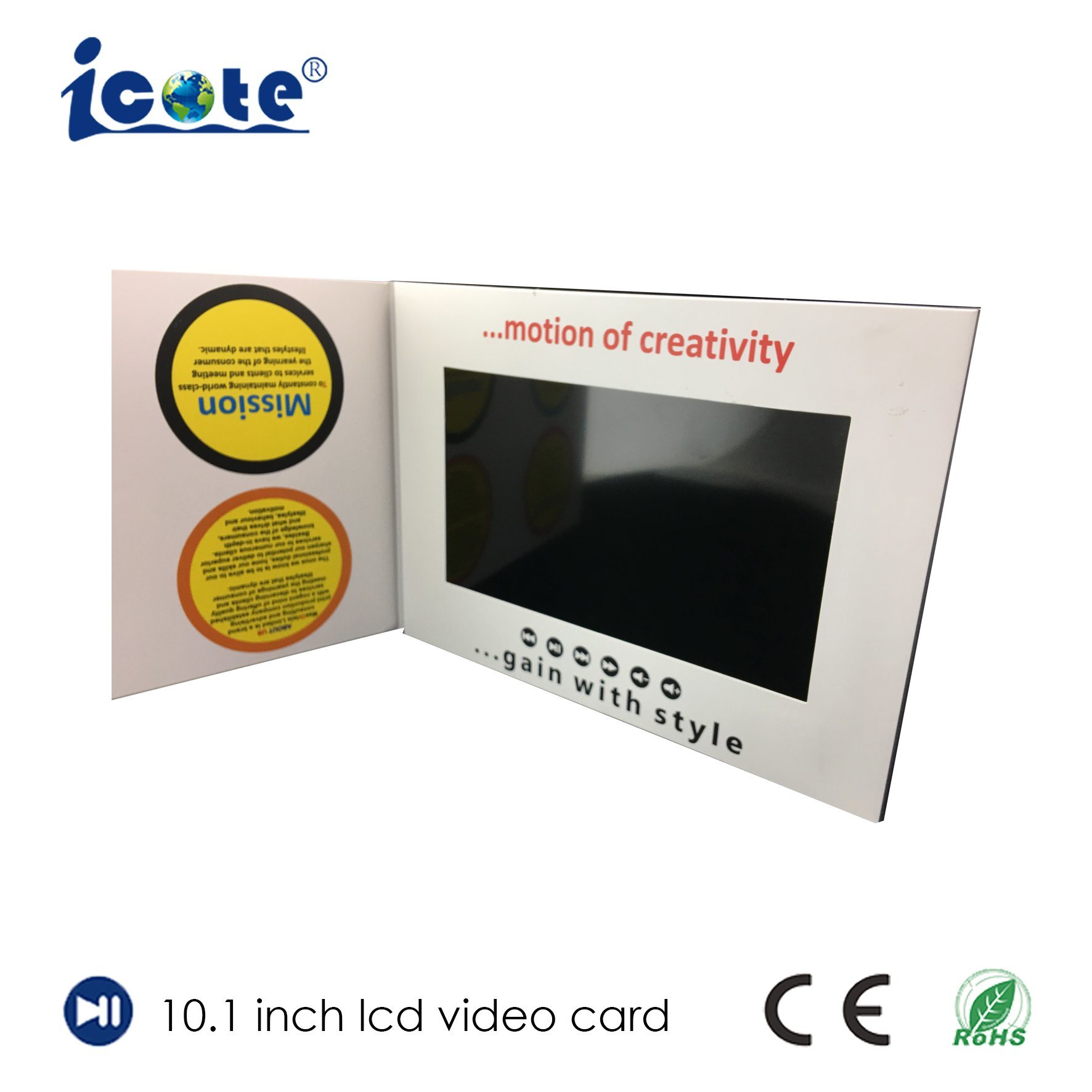 China 10.1 Inch LCD Screen Video Wedding Invitation Greeting Cards ...