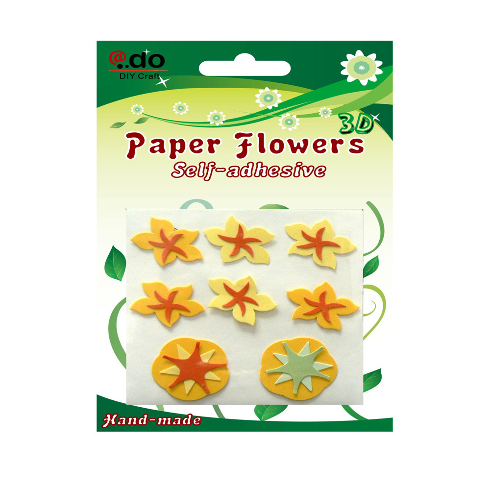 China Self Adhesive Paper Flower Sticker For Scrapbooking Fy 16
