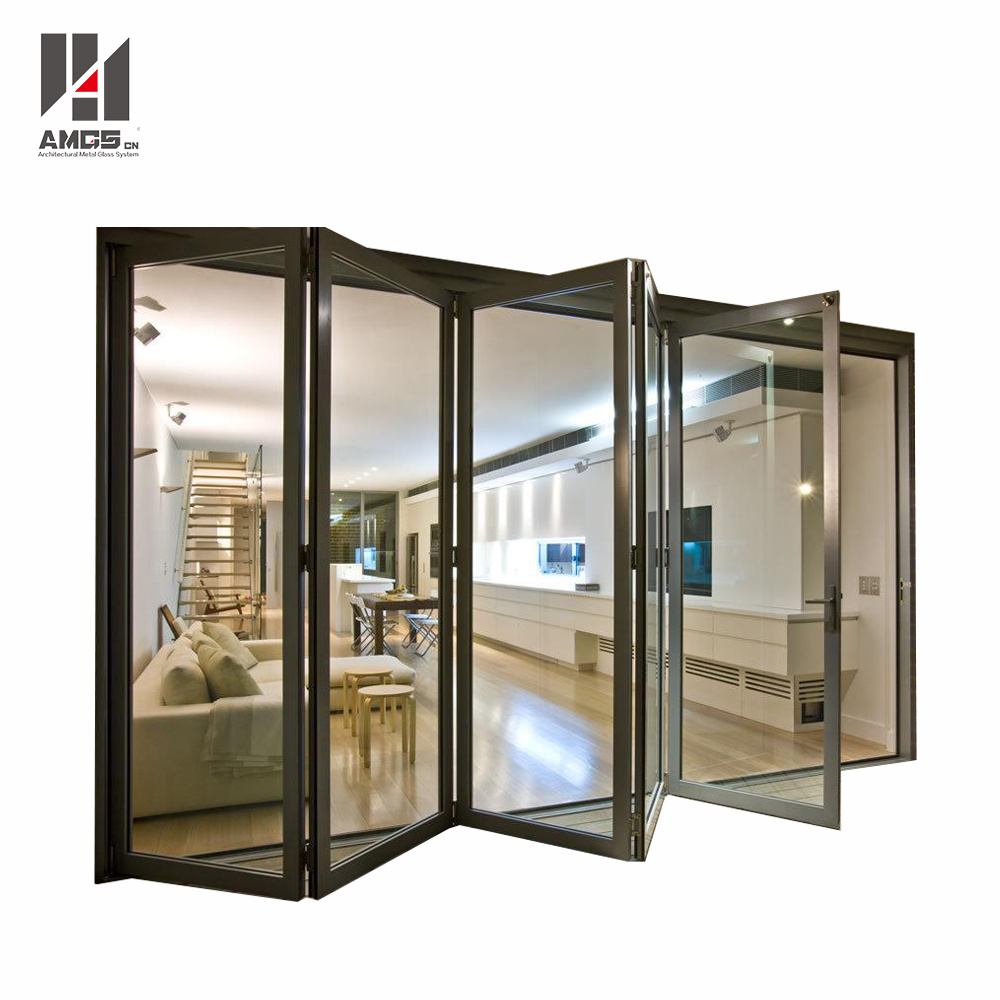 High Quality Double Glazed Aluminum Folding Door pictures & photos