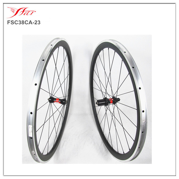 one piece carbon bike rim for racing replacement,700C bicycle rim,38mm clincher