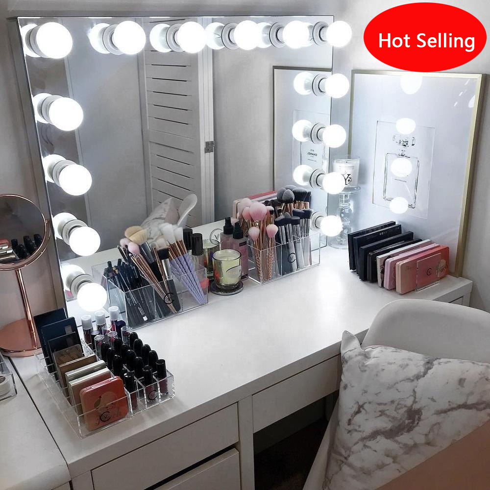China Hollywood Light Makeup Vanity Mirror Dressing Table Mirror China Led Bathroom Mirror Wall Mirror