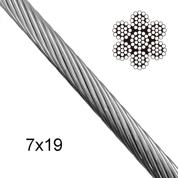 China AISI 304 7X19 Type Stainless Steel Wire Rope Steel Coil ...