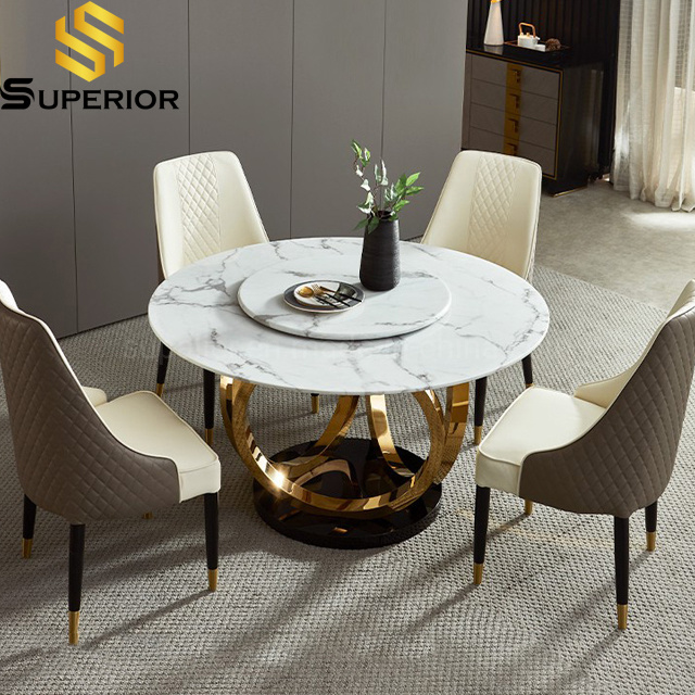 China Modern Living Room Furniture Big, Marble Dining Room Table
