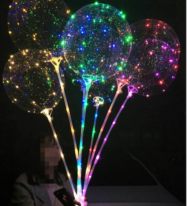 China Glow In The Dark Party Decor Transparent Led Bobo Light Balloon Luminous China Christmas Gift And Party Items Price