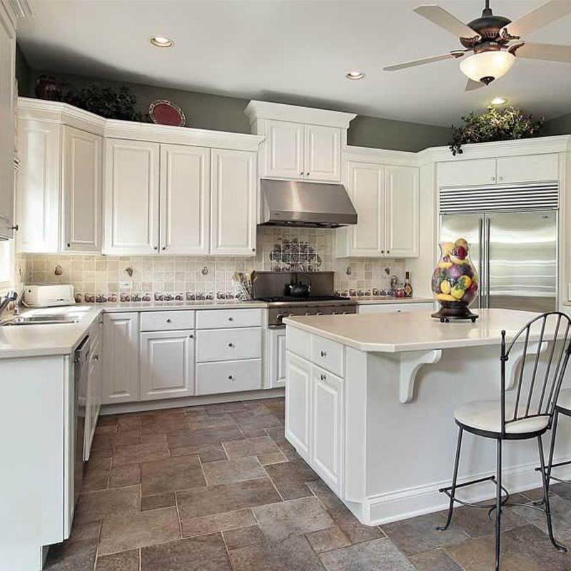 American Villa Teak Wood White Kitchen, American Kitchens Metal Cabinets