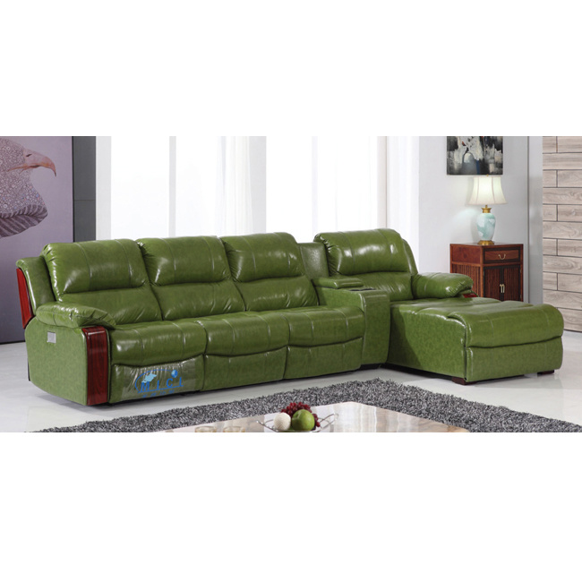 [Hot Item] Green Color Chaise Recliner Sofa 6005lt