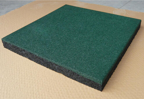 Sports Rubber Flooring Tile Square Rubber Tile Recycle Rubber Mat Playground Rubber Flooring pictures & photos