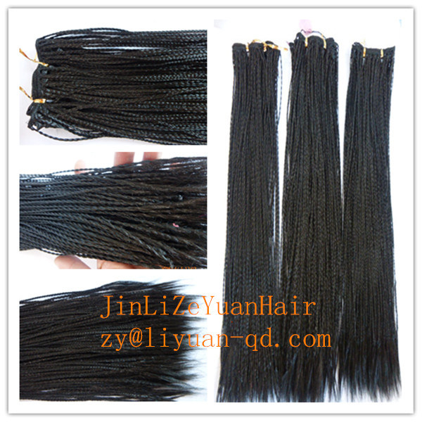 China 18 Inch High Synthetic Hair Braid Micro Twist Weft Hair Weave