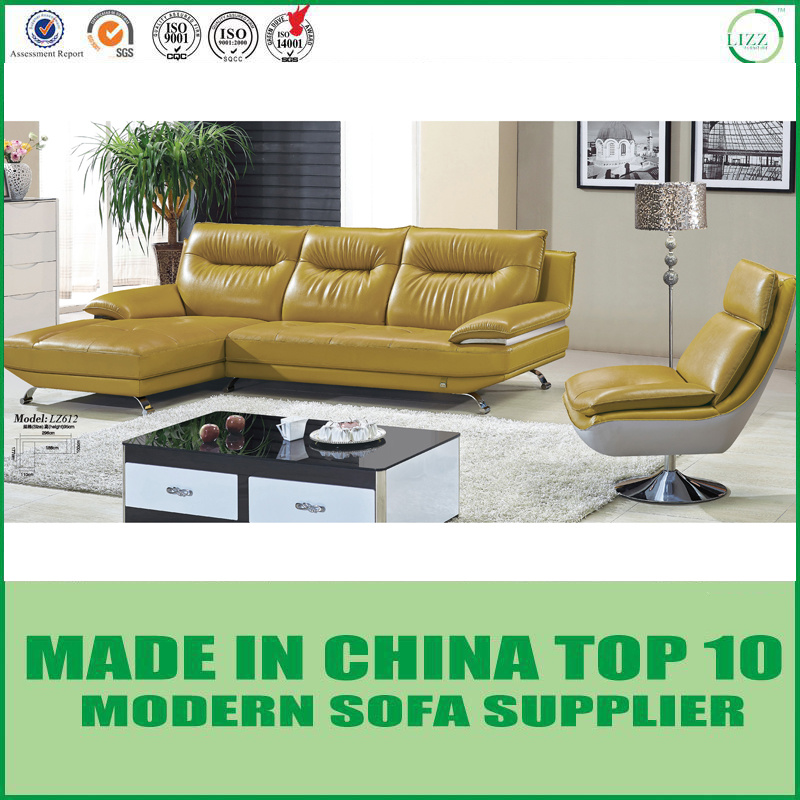 [Hot Item] Home Furniture Living Room Leather Sofa Set with Swivel Chair