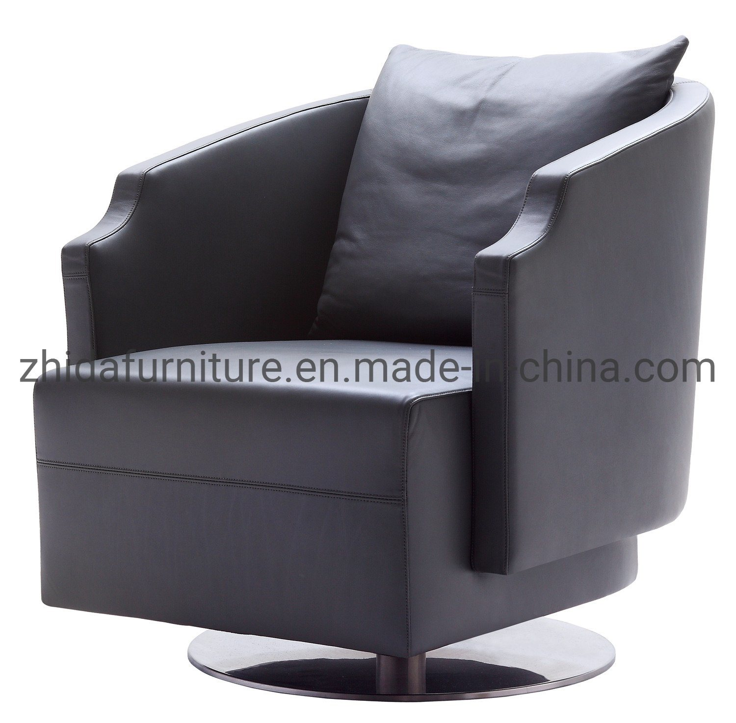 [Hot Item] Chinese Living Room Home Furniture Upholstery Top Modern Swivel  Chair