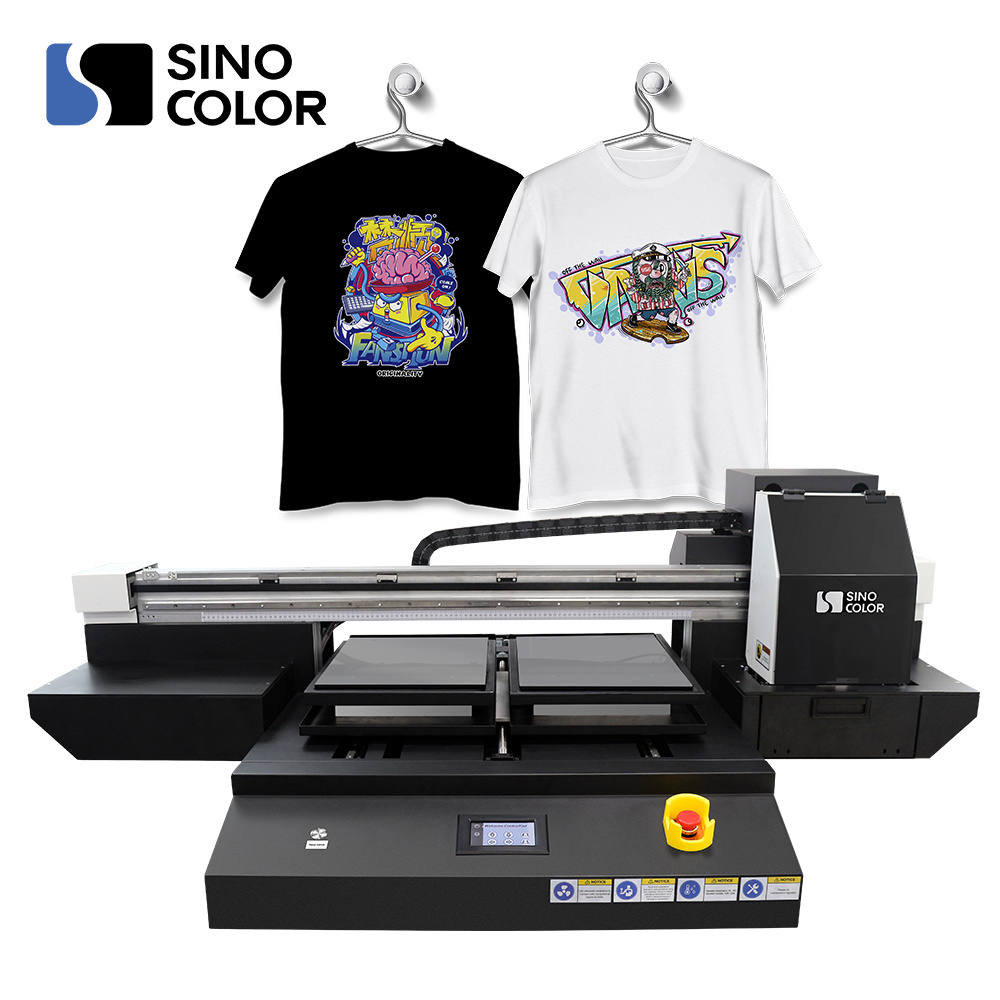 5 Color Cmyk W Chinese Factory A2 T-Shirt Printing Machine Tp-600d ...