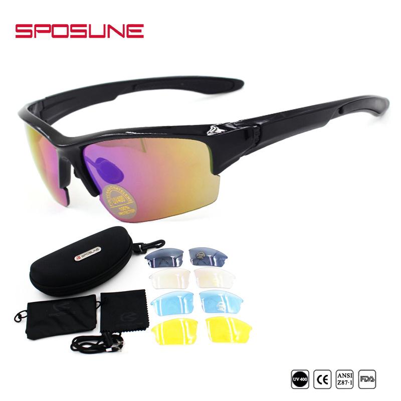 de91026f3c Hot Sale Vintage Wrap Around Rx Motorcycle Sunglasses Black Half Rim Frame Polarized  Lens Eyeglasses Full Set for Cycling Riding