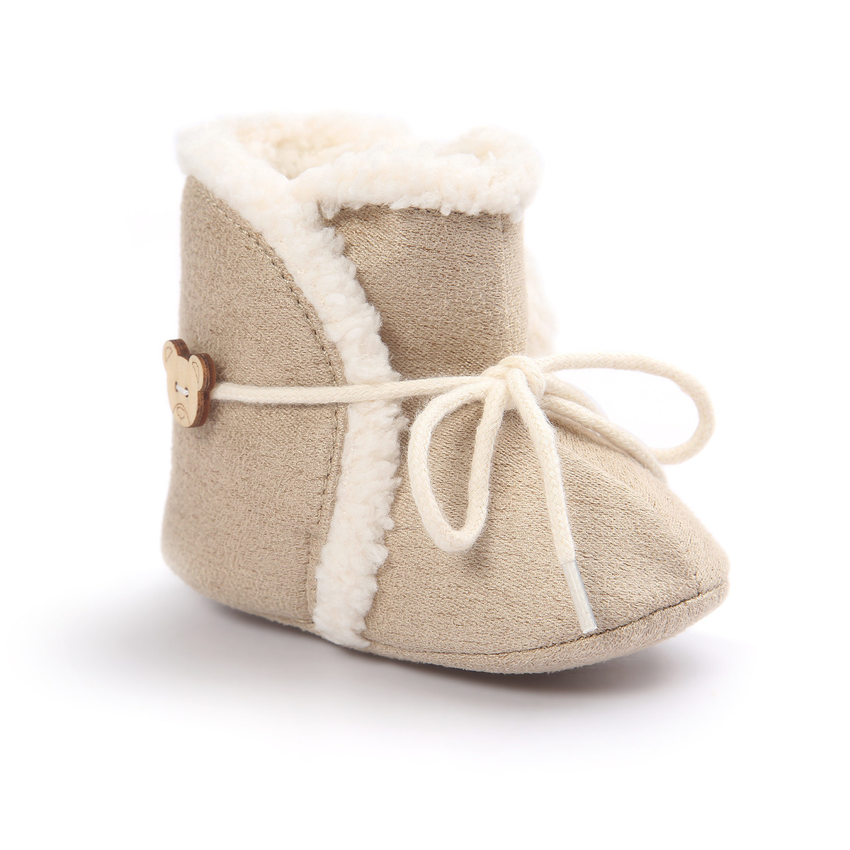 Baby Toddler Infant Girl Boy Snow Boots Shoes Rubber Sole Prewalker Crib Sneaker