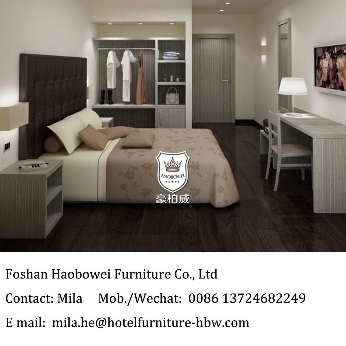 China UK Low Cost Modern Melamine Furniture Hotel Bedroom ...