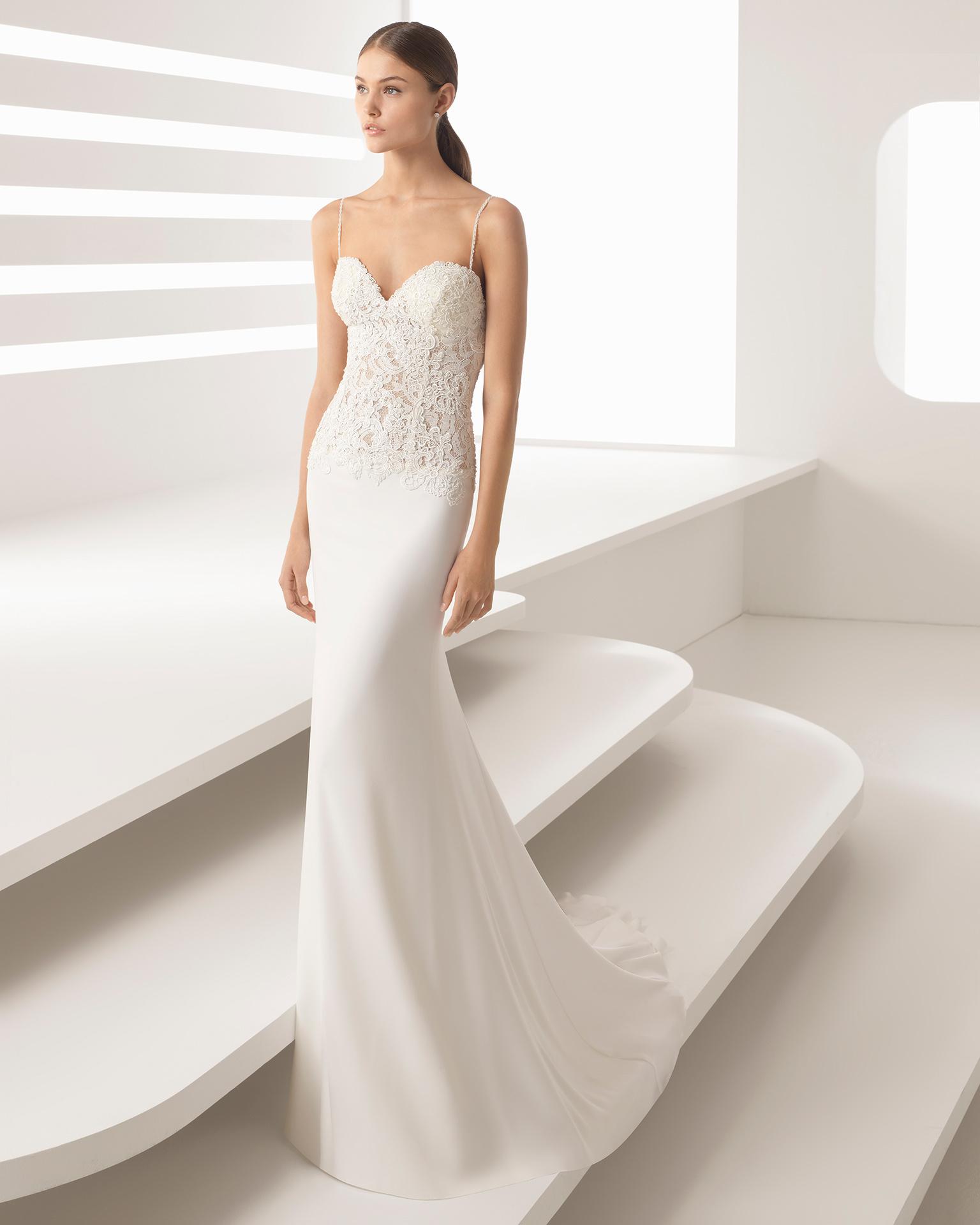dd4b7495a17 Sweetheart Neckline Chiffon Wedding Dress - Gomes Weine AG