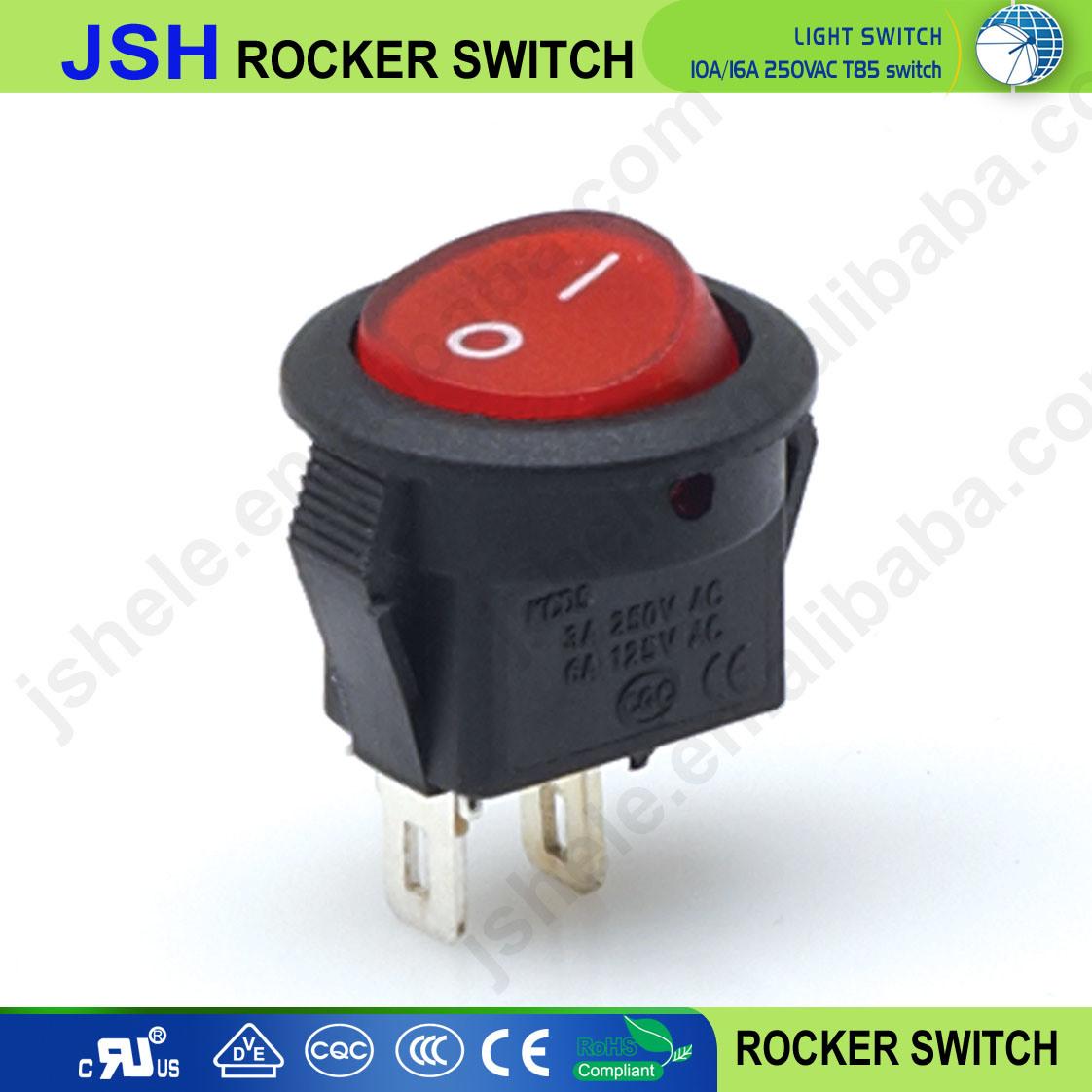 China Locking Round Circular Rocker Switch Car Dash Dashboard Boat Lighted Toggle Spst 25a 12v