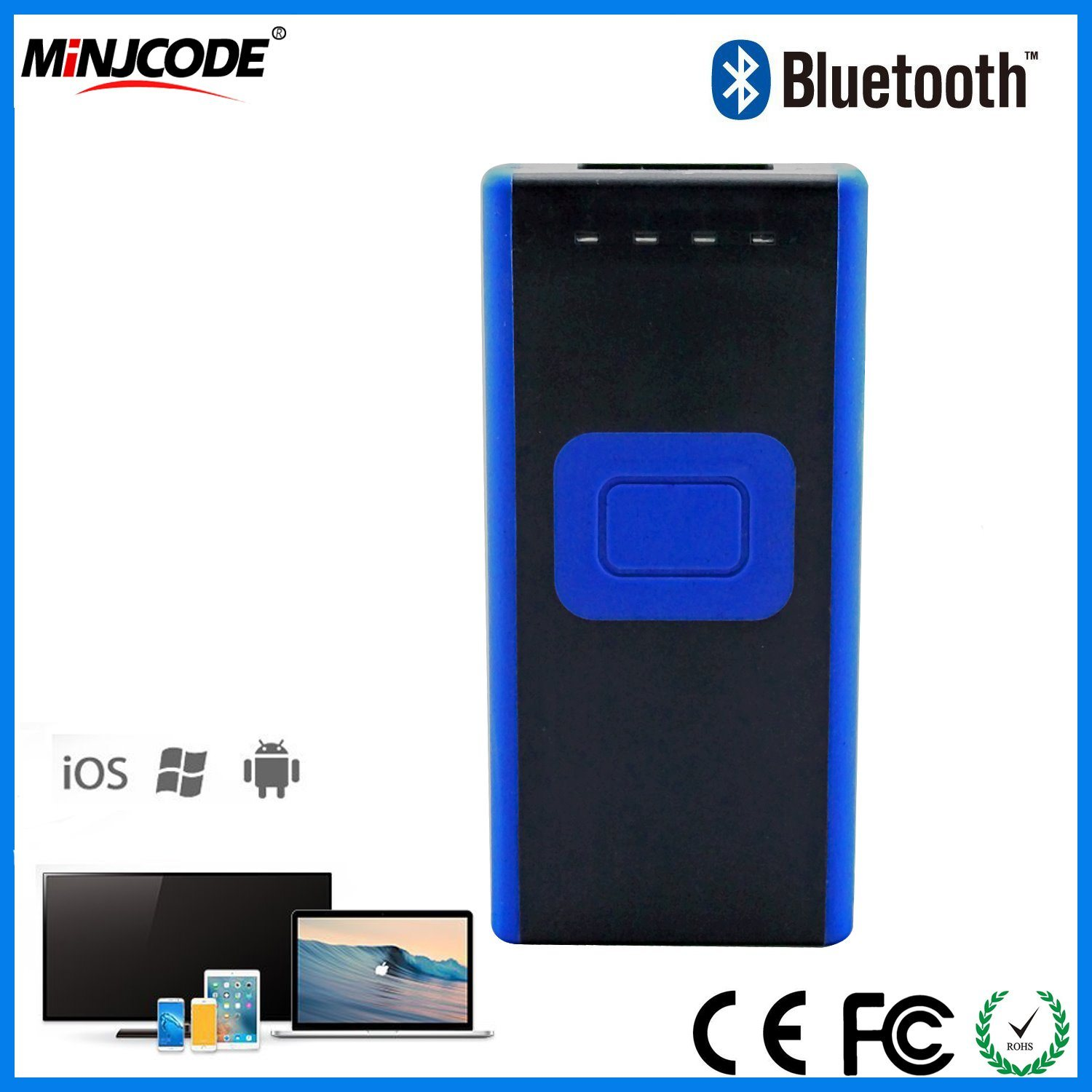 [Hot Item] 1d Bluetooth Wireless Barcode Scanner, Best Barcode Scanner  Price, Barcode Scanner Reader, Barcode Scanner for iPad, Mj2860