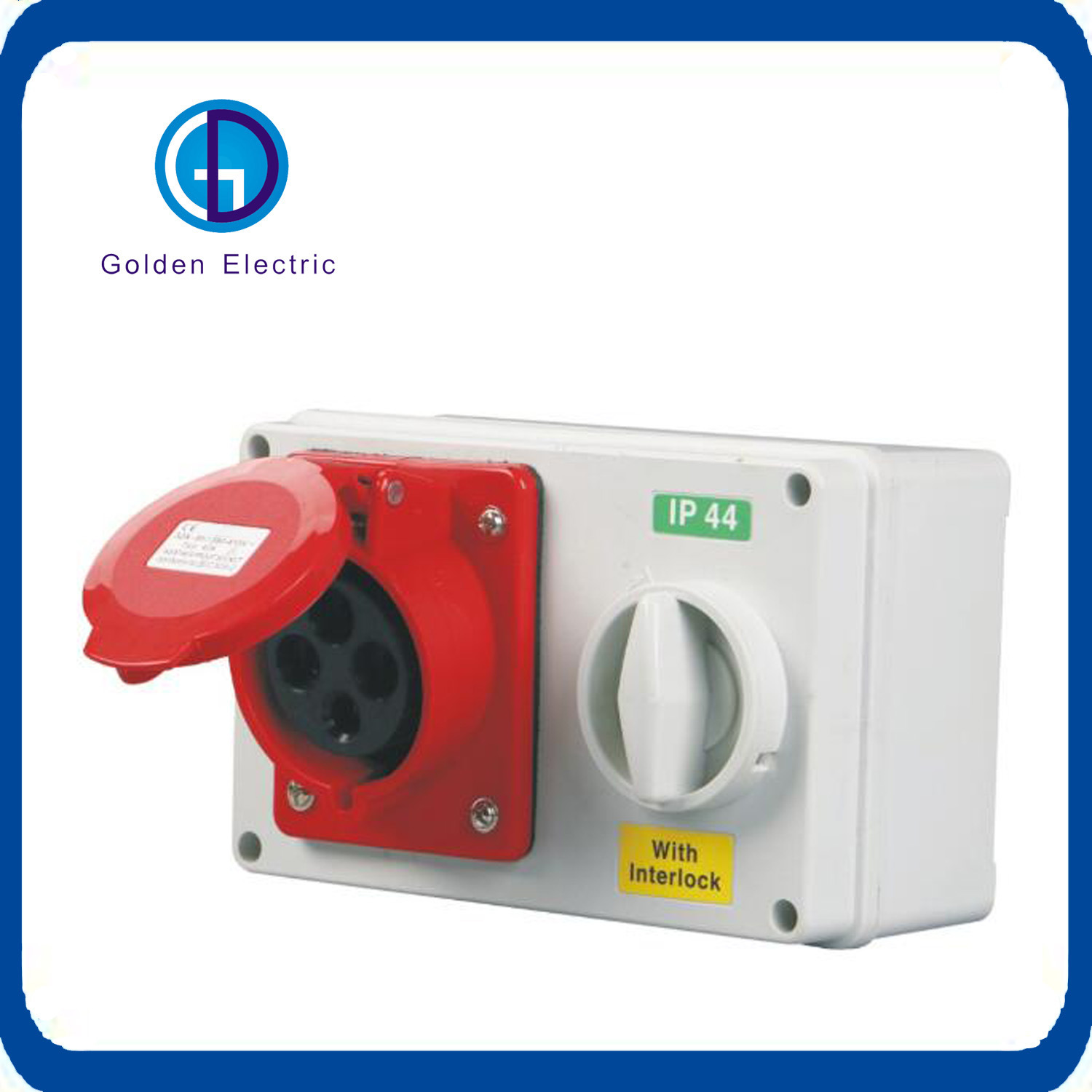 China Socket With Switch And Mechanical Interlock Ip44