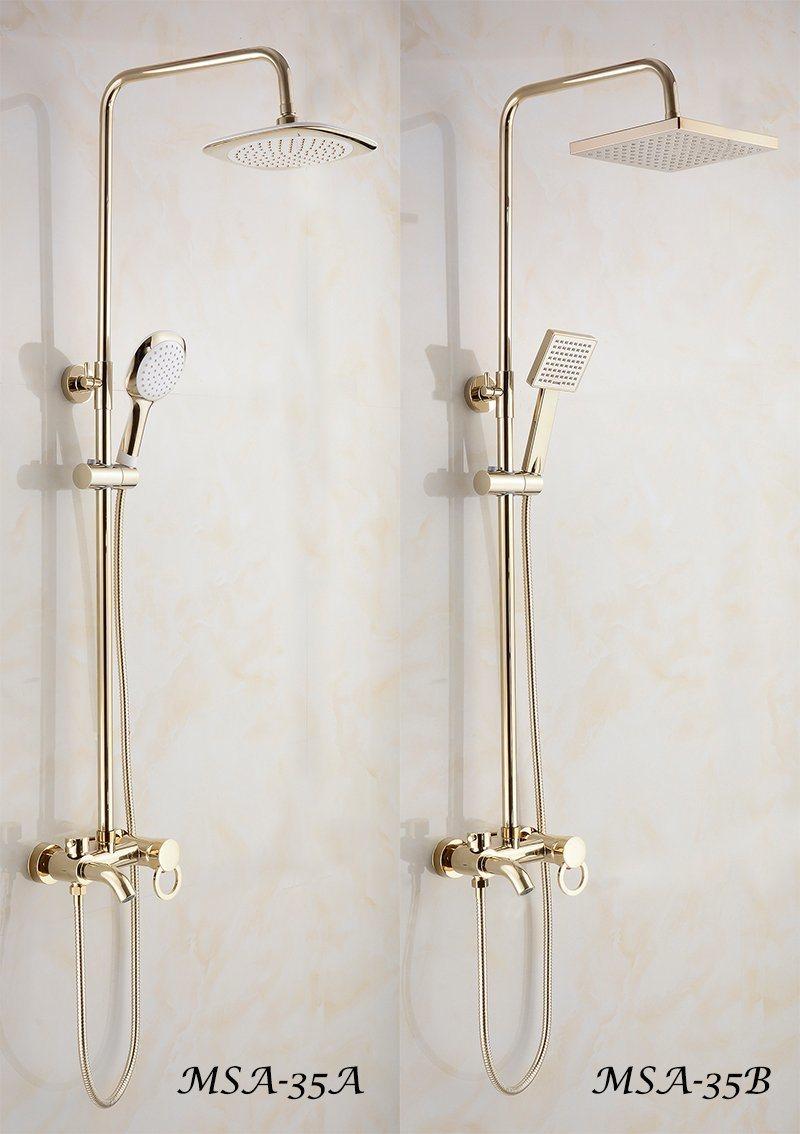 Hot Item Luxury Golden Color Shower Set With Shower Head Handheld Spray