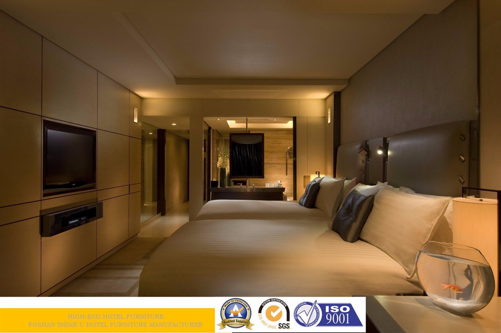 Hot Item 5 Star Contemporary Wooden Hotel Bedroom Furniture Set