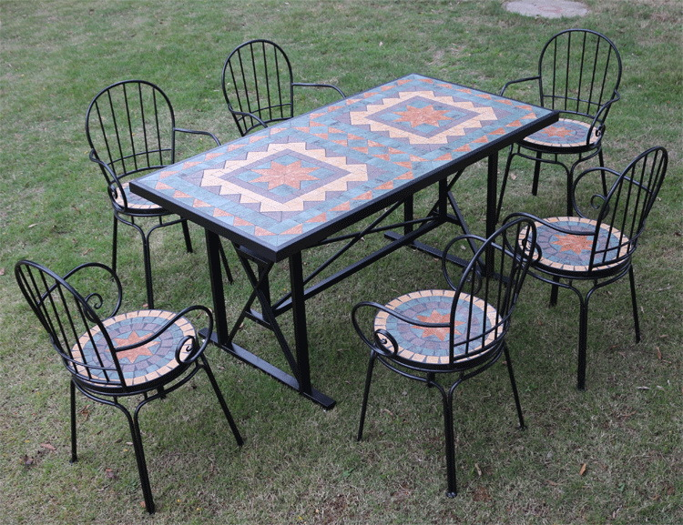 [Hot Item] Country Style Mosaic Garden Furniture Patio Furniture