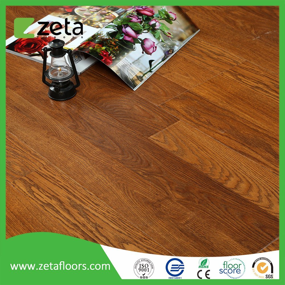 China New Style Waterproof Wood Embossment Laminated Flooring Tile