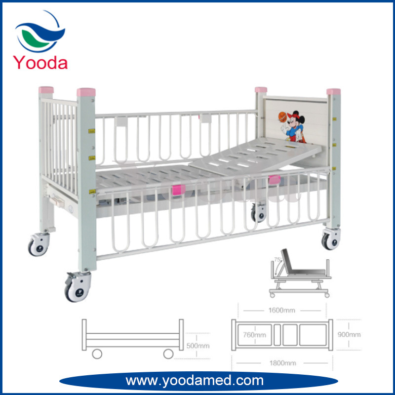 Stainless Steel Pediatric Bed with Foldable Side Rail