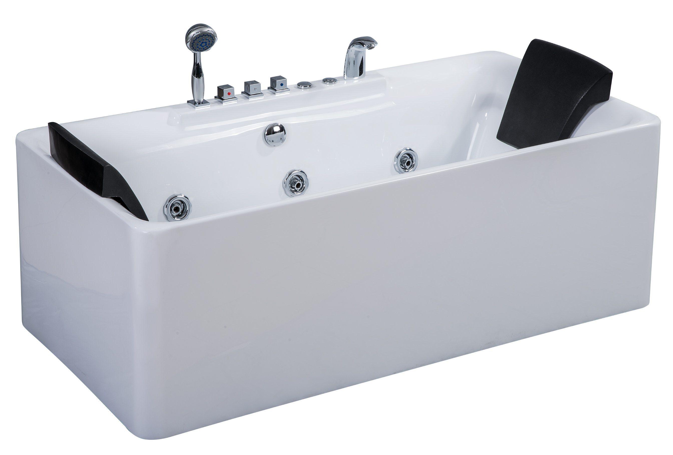 China Portable Computer Control One Piece Whirlpool Bathtub - China ...