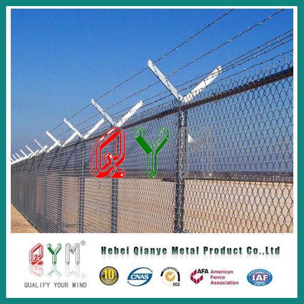 China High Security Airport Fence with Barbed Wire Razor Wire ...