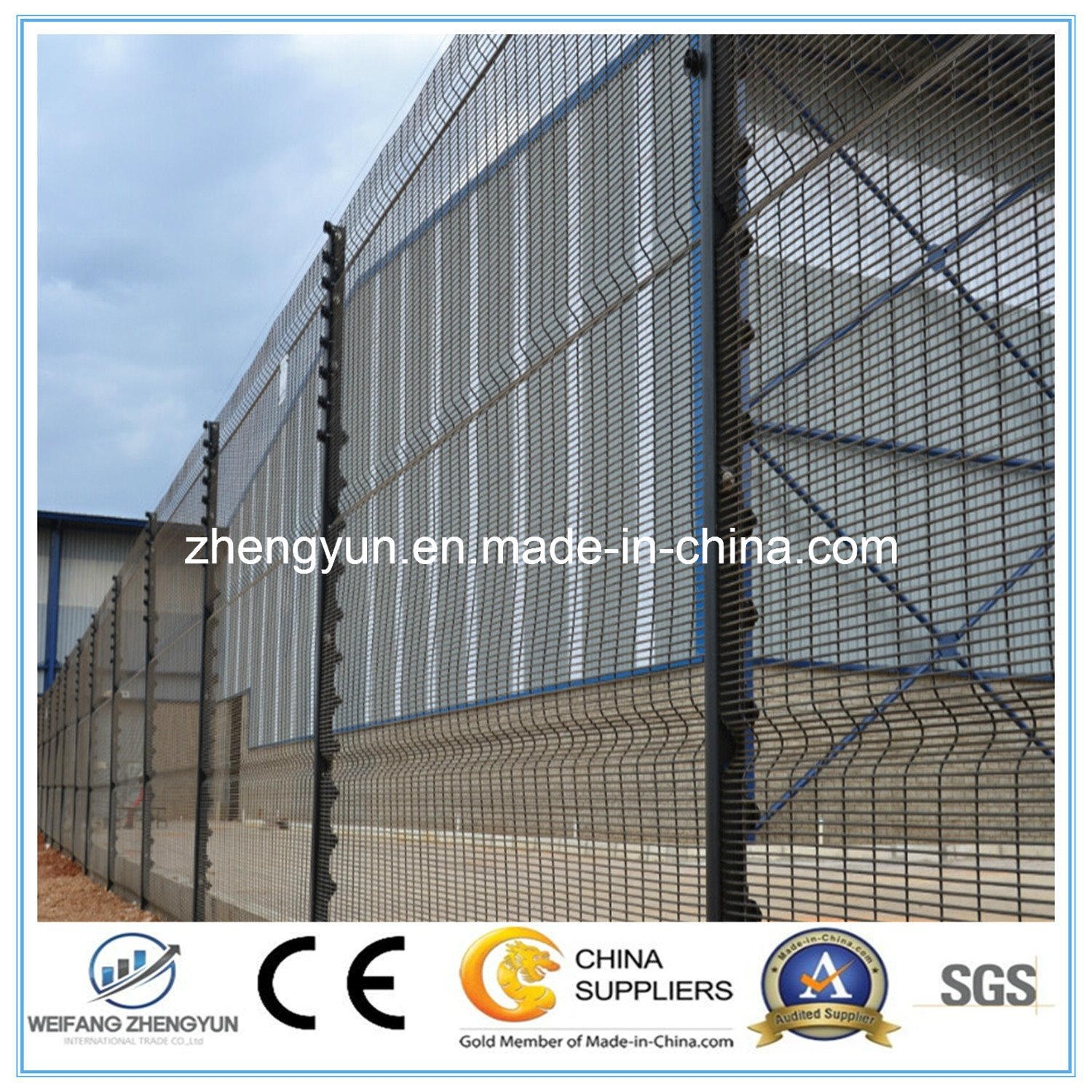 China Powder Coated Anti Climbing Welded 358 High Security Fence ...