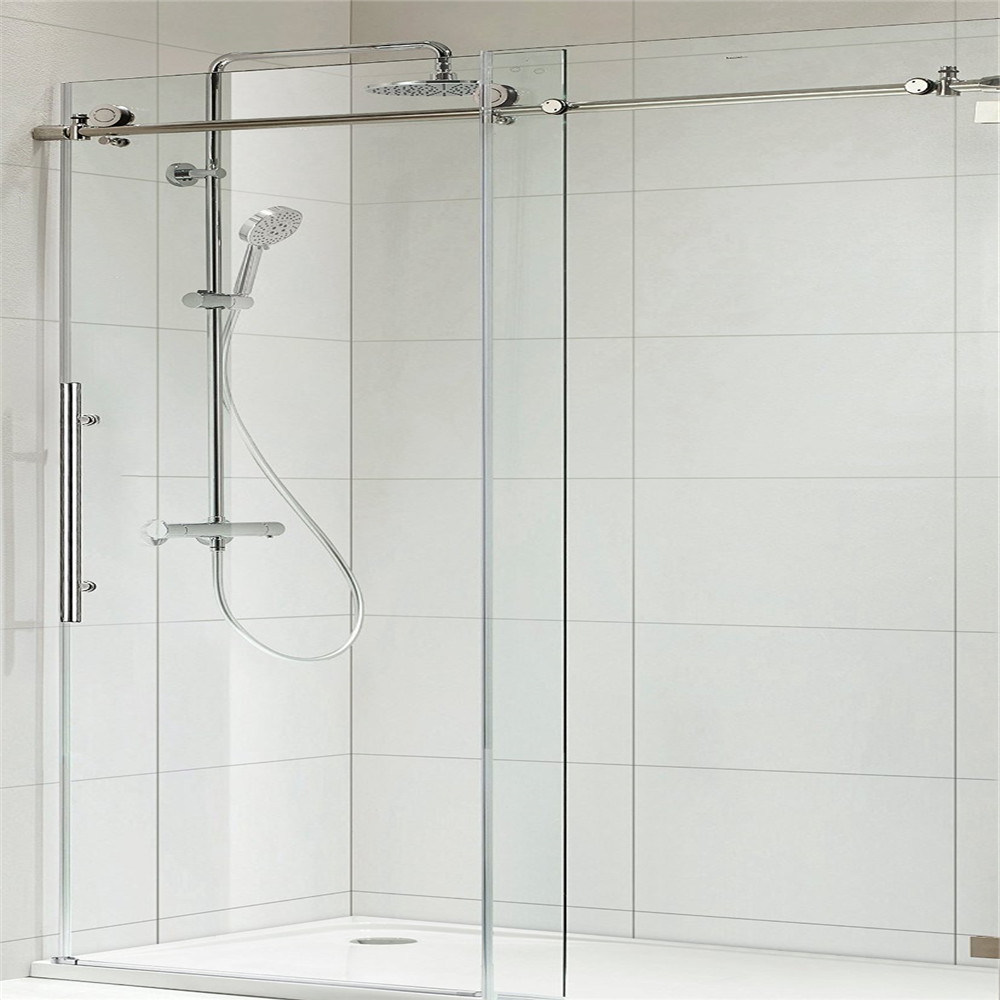 China Frameless Sliding Shower Door With 8mm Clear Glass And