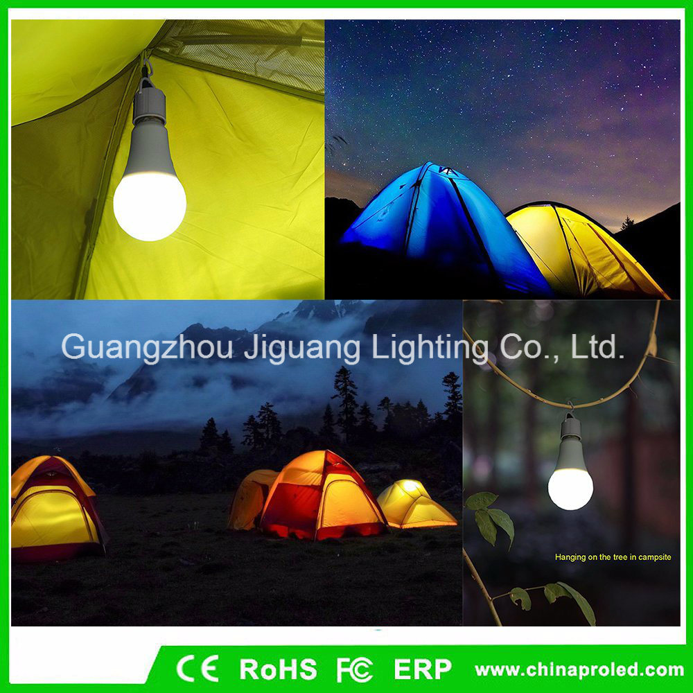 [Hot Item] Outdoor Emergency Bulb 9W Camping Lamp with Portable LED Lantern  Tent Light Hiking Night Lighting