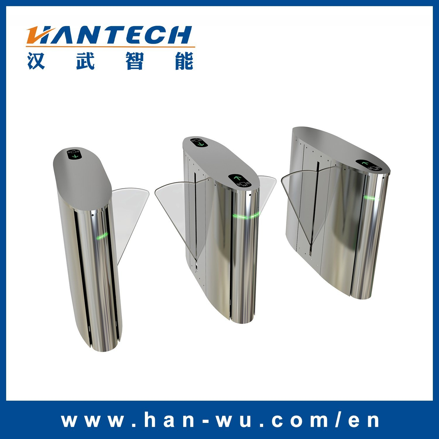 China Infrared Automatic Retractable Flap Wings Barrier With Entry Intrusion Control System Wing Gate