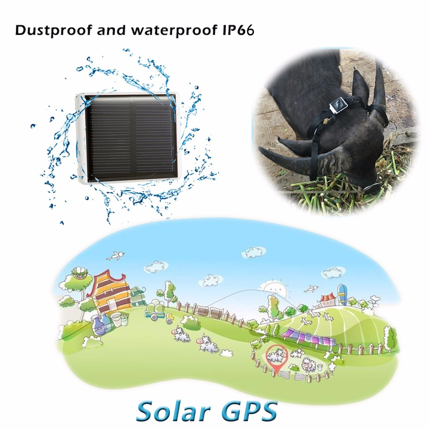 Solar Power Charging GPS Tracker for Livestock (V26)