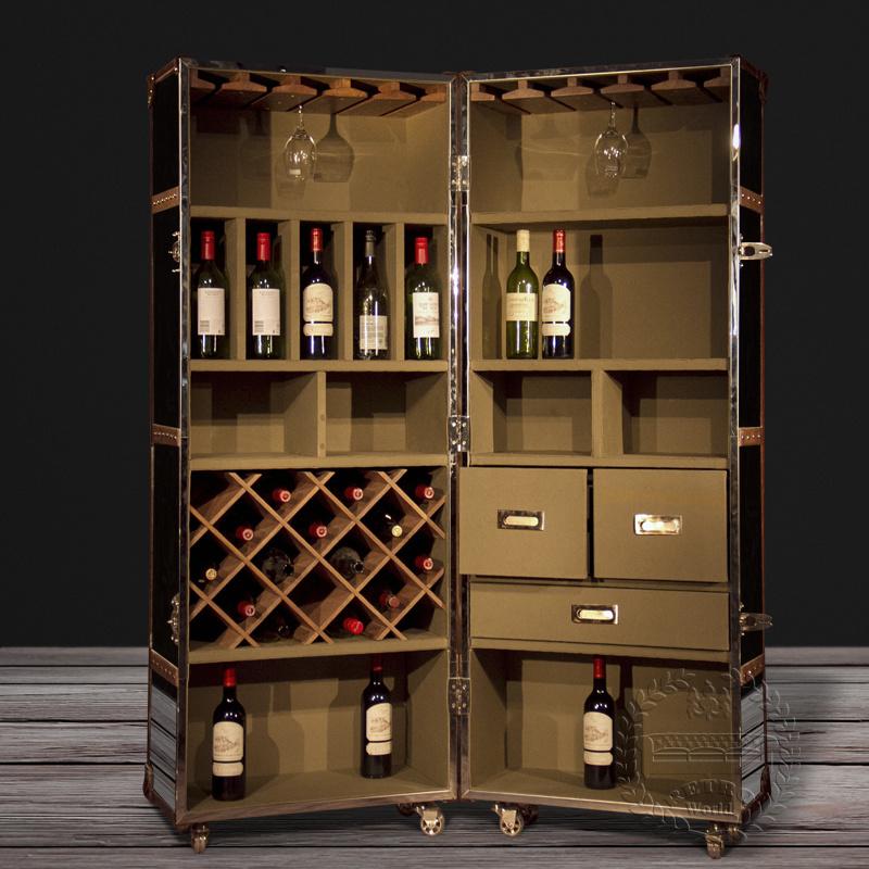 Antique Leather Wine Cabinet Decorative Wine Cabinet Antique Wine Bar  Cabinet - China Antique Leather Wine Cabinet Decorative Wine Cabinet Antique