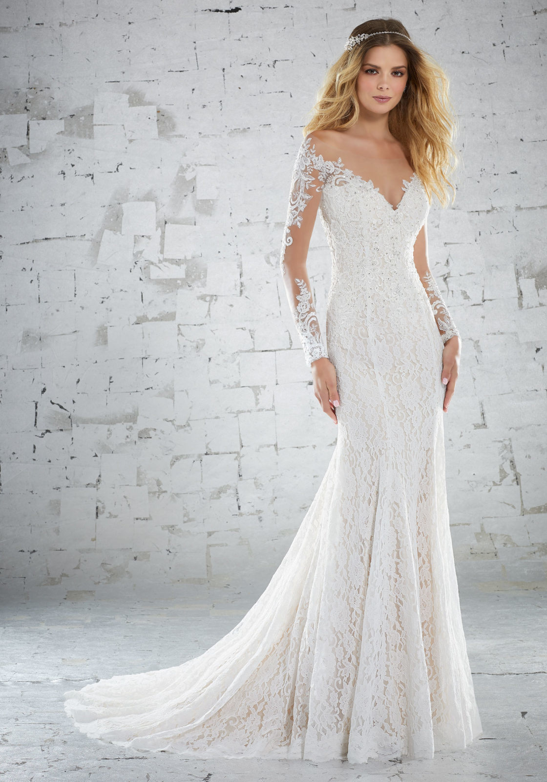 d4a89e9835c1 China Lace Bridal Gowns Long Sleeves Lace Mermaid Beach Wedding Dresses  Y6888 - China Wedding Dress, Mother of The Bride Dress