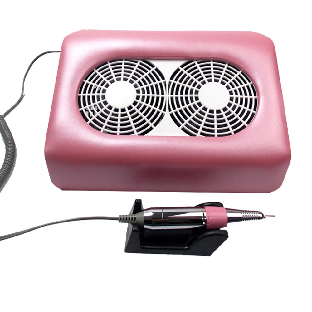 China Electric Nail Dust Vacuum Collector Nail Drill with Two Fans ...