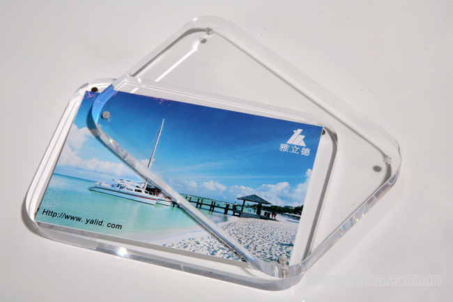 Customize Clear Acrylic Magnetic Photo Frame 4X6 PMMA Photo Frame