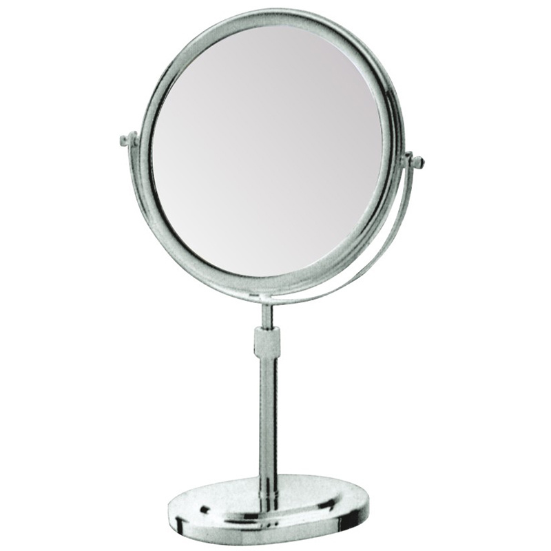 Hotel Desktop Height Adjustable Cosmetic Metal Magnifying Mirror