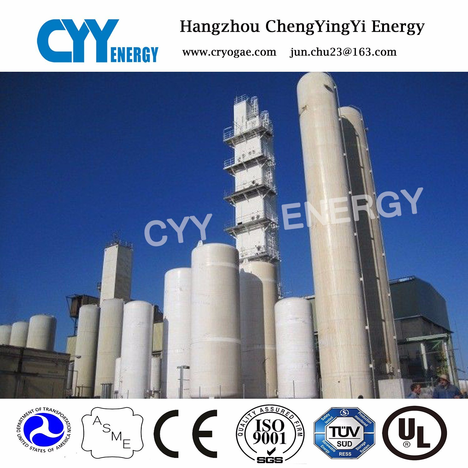 Air Separation Plant Asu Cryogenic Tank Container