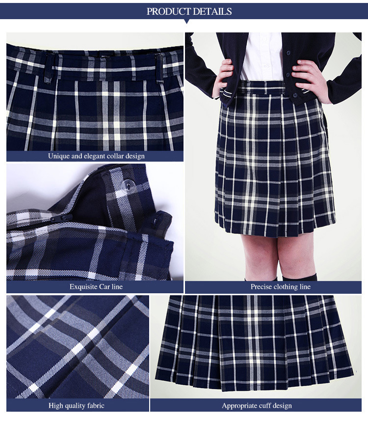 China Wholesale School Uniform Women Girl Plaid Mini Skirt