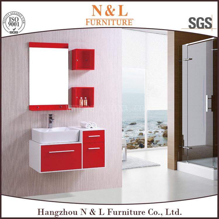 China N L Red Pvc Bathroom Cabinets
