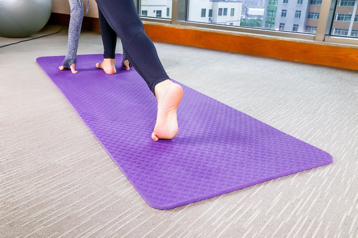Yoga Mats Small 15 mm Thick And Durable Yoga Mat Non Slip 60 x 25 x 1.5cm
