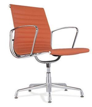 Swell Hot Item Modern Orange Leather Eames Chair 80086 Machost Co Dining Chair Design Ideas Machostcouk