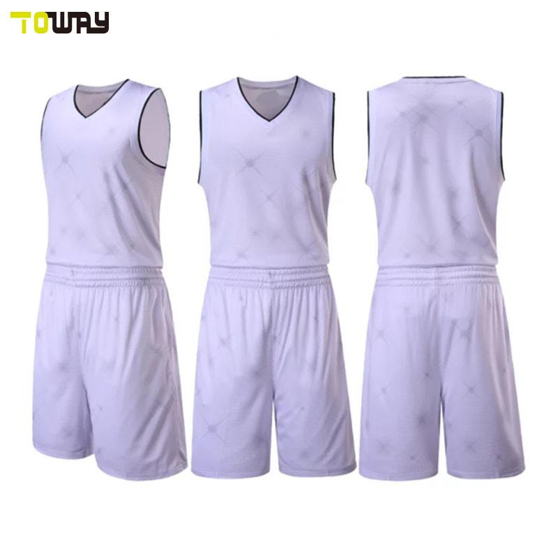 China 2018 New Design Plain White Basketball Jersey Uniform Photos ... 4b4a419a9eb9