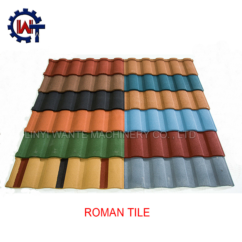 China Cheap And Hot Selling Stone Coated Steel Roof Tiles China Stone Coated Roofing Sheet Sheet Metal Roofing Installation Guide