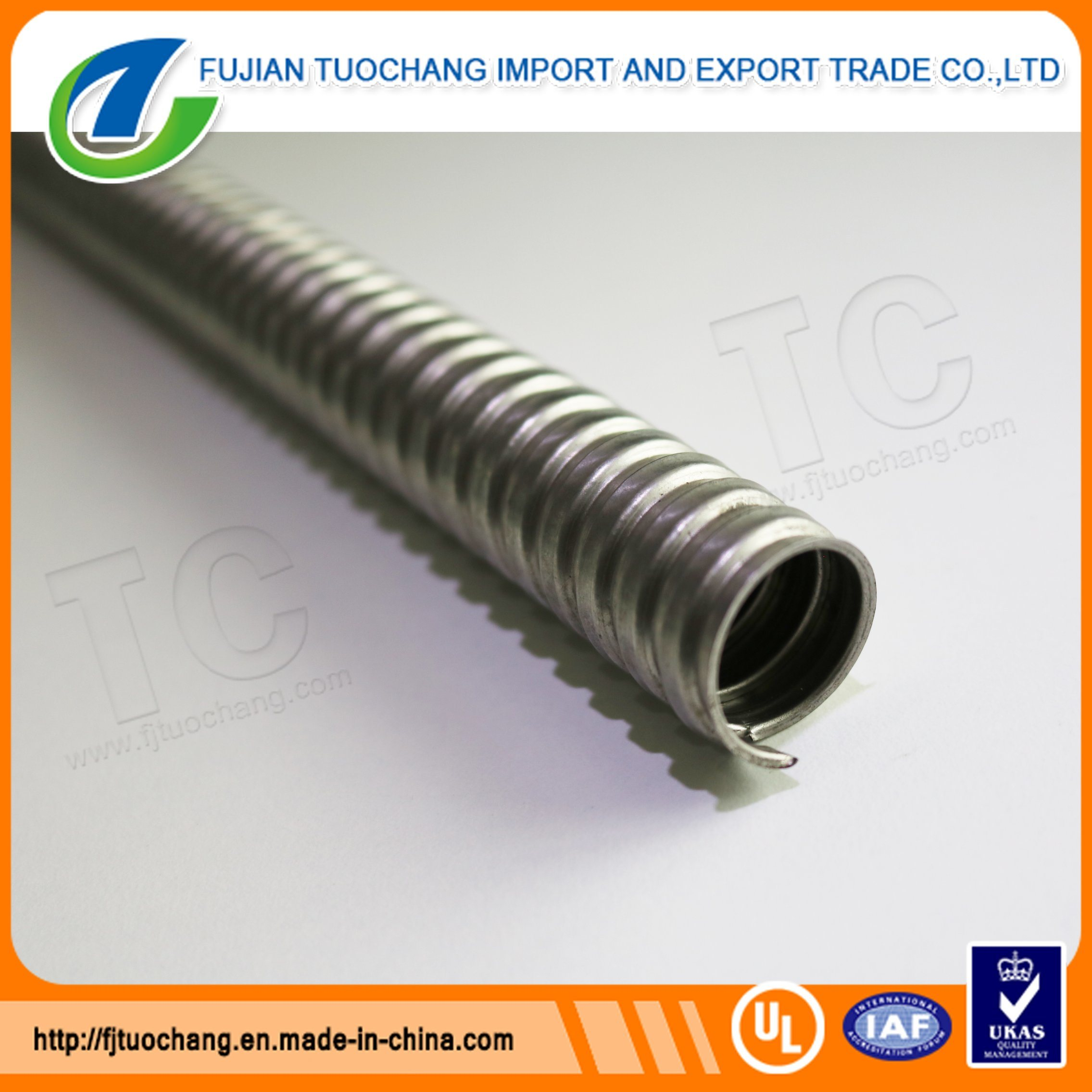 China Galvanized Flexible Conduit For Protect Electrical Wiring Wire