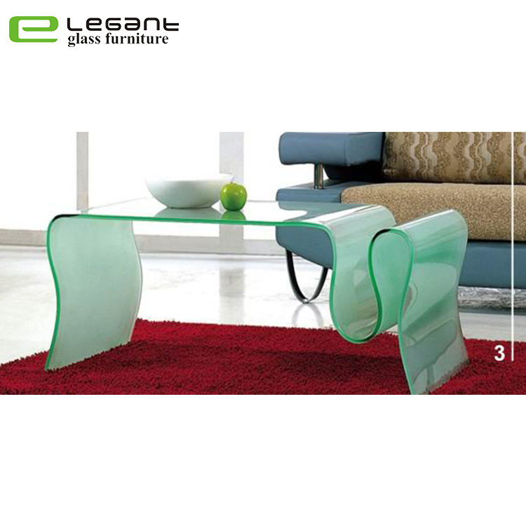 China Elephant Bent Glass Coffee Table In Frosted Color   China Glass  Coffee Table, Glass Tea Table