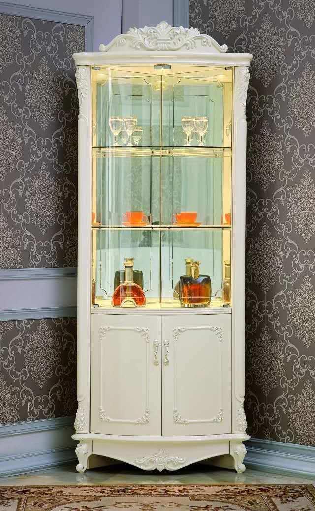 China Factory Classic Corner Cabinet, China Corner Cabinet